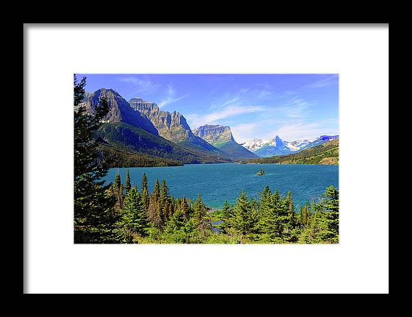 Scenics Framed Print featuring the photograph St. Mary Lake, Glacier National Park by Dennis Macdonald