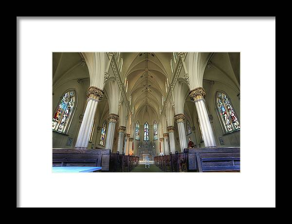 St. Mary's Framed Print featuring the photograph St Mary's Chapel Northeast PA by Brian Fisher