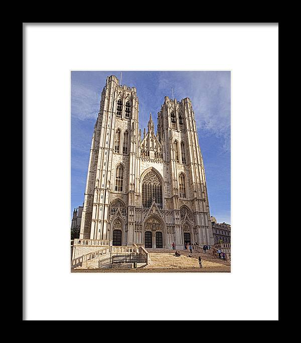 Cathedral Framed Print featuring the photograph St Michael And St Gudula Cathedral by Stephen Barrie