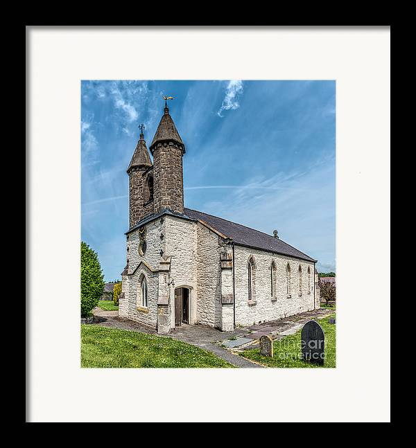 Betws Yn Rhos Framed Print featuring the photograph St Michael Church by Adrian Evans