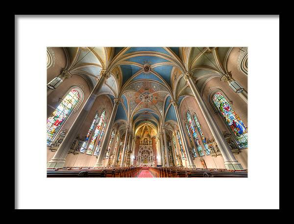 Chicago Framed Print featuring the photograph St. Michael's Church Alter by Chris Smith