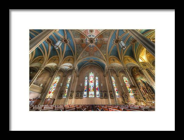 Chicago Framed Print featuring the photograph St. Michael's Church Windows by Chris Smith