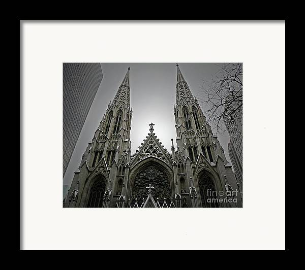 Cathedral Framed Print featuring the photograph St. Patricks Cathedral by Angela Wright