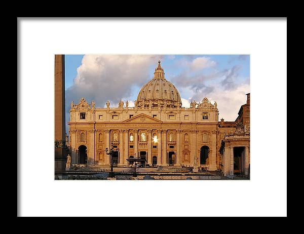 3scape Photos Framed Print featuring the photograph St. Peters Basilica by Adam Romanowicz