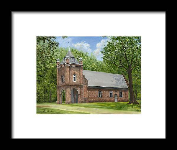Historic Church Framed Print featuring the painting St. Peter's Church by Anne Kushnick