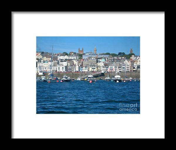 Isle Of Geurnsey Framed Print featuring the photograph St Peters Port Guernsey by Phyllis Kaltenbach