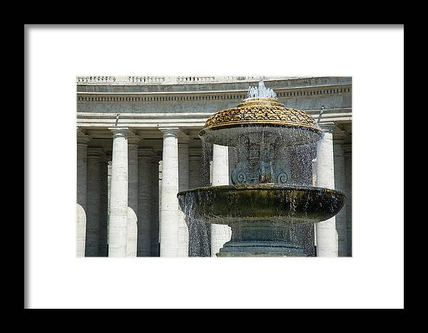 Vatican Framed Print featuring the photograph St Peters Square Fountain by Jeremy Voisey