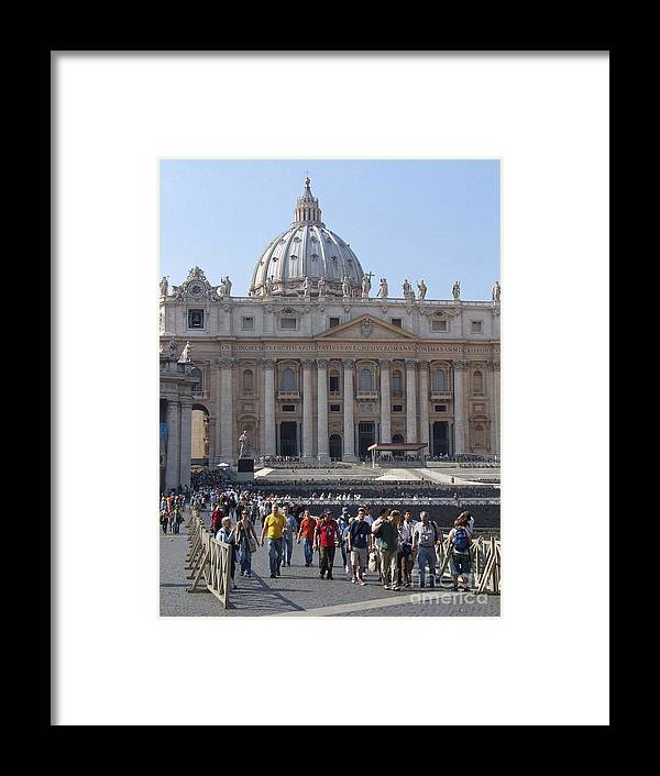 St.peters Framed Print featuring the photograph St. Peters - Vatican - Rome by Phil Banks