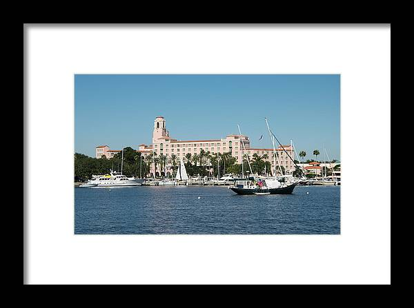 Florida Framed Print featuring the photograph St. Pete's Vinoy Hotel by Robert VanDerWal