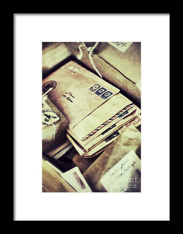 Soldier Framed Print featuring the photograph Stacks Of Old Mail by Birgit Tyrrell