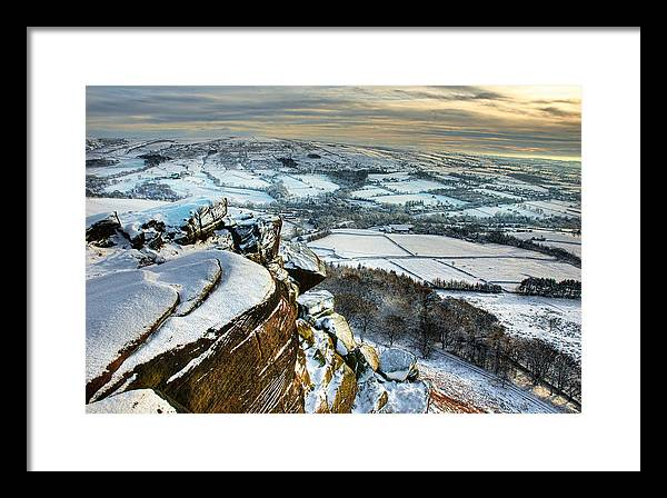 Winter Framed Print featuring the photograph Staffordshire Winter Moorland by Colin Bruce