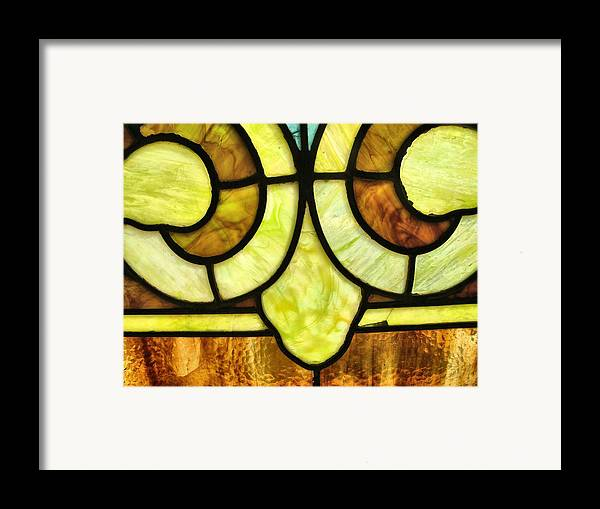 Stained Glass 3 Framed Print featuring the photograph Stained Glass 3 by Tom Druin