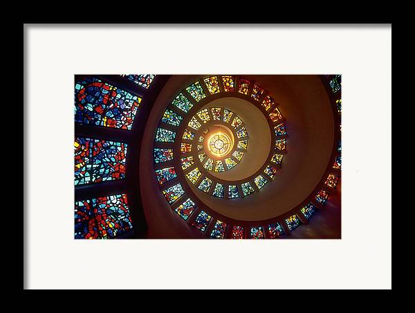 Abstract Framed Print featuring the drawing Stained Glass by Gianfranco Weiss