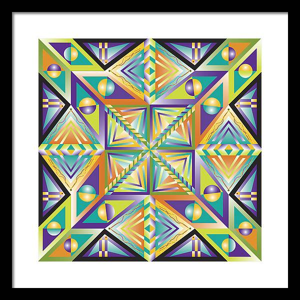 Optical Geometric Visual Digital Art Giclee Print Framed Print featuring the digital art Stained Glass by James Sharp