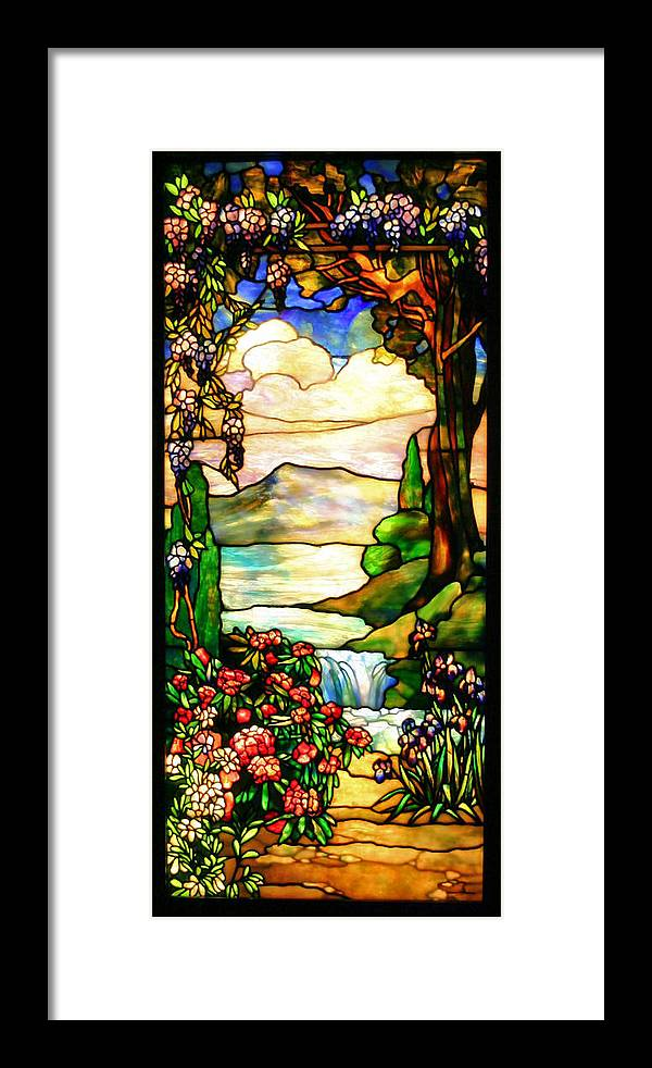 Stained Glass Framed Print featuring the photograph Stained Glass by Kristin Elmquist