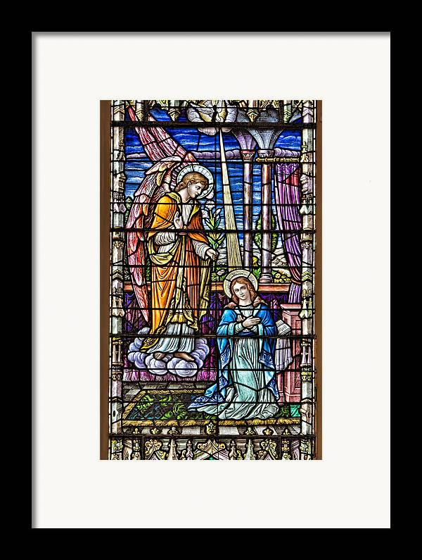 Catholic Framed Print featuring the photograph Stained Glass by Susan Candelario