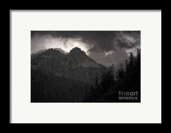 Mountains Washington Framed Print featuring the photograph Staircase by C E Dyer