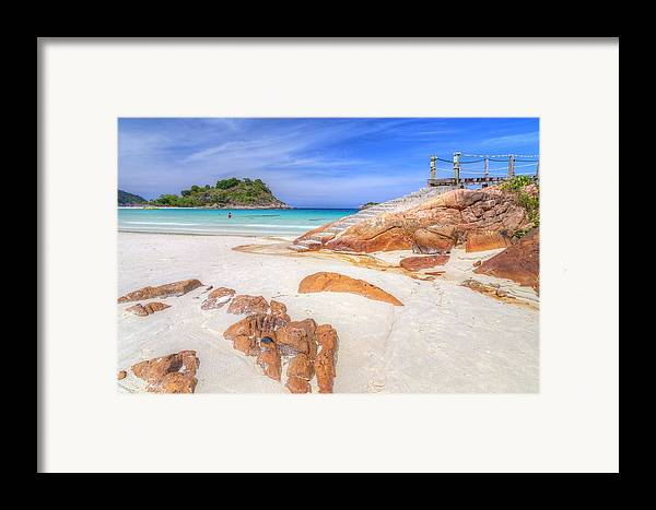 Paradise Framed Print featuring the photograph Stairs To Paradise by Mario Legaspi