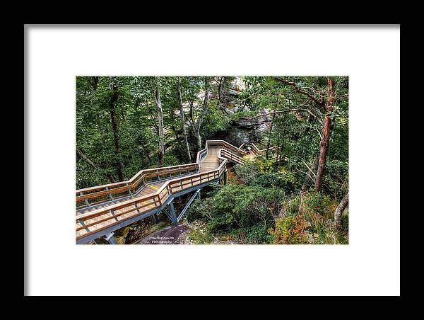 Landscape Framed Print featuring the photograph Stairway To Chimney Rock by Maurice Smith