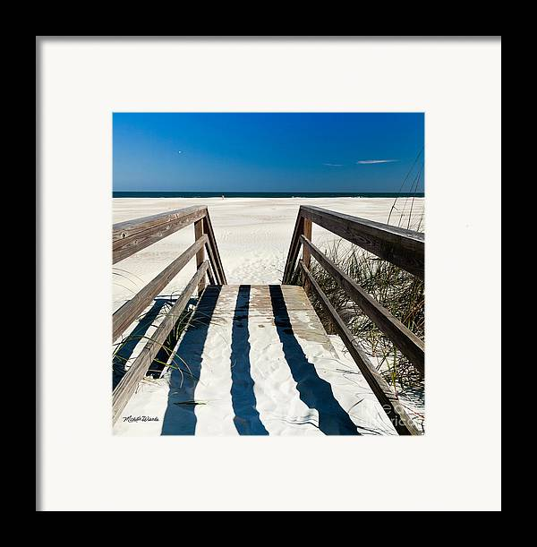 Stairway To Happiness And Possibilities Framed Print featuring the photograph Stairway To Happiness And Possibilities by Michelle Wiarda-Constantine