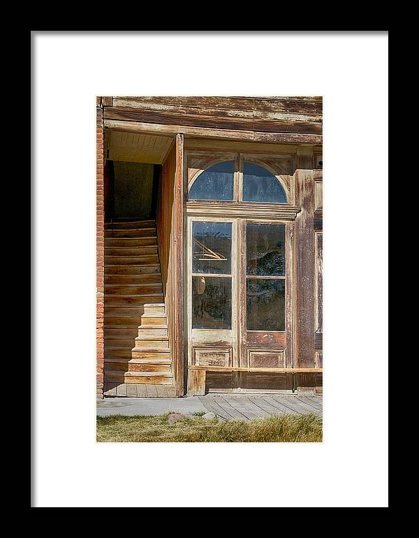 Bodie Framed Print featuring the photograph Stairway To The Second Floor by Terry DeHart