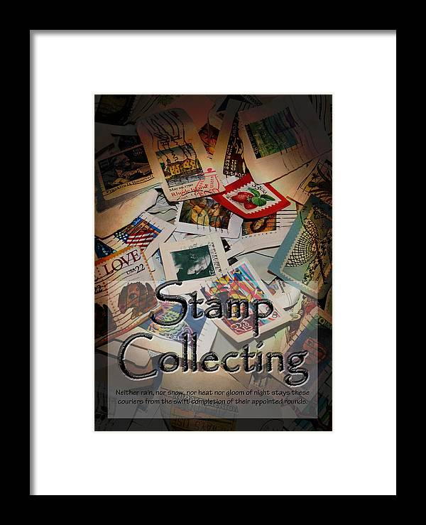 Stamps Framed Print featuring the photograph Stamp Colleting by Karen Beasley