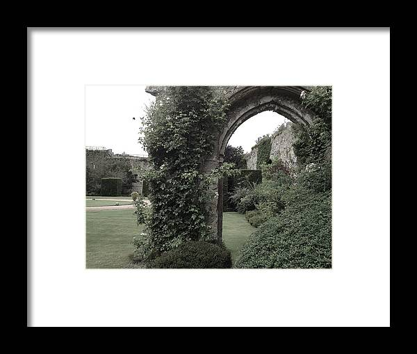 Photograph Framed Print featuring the photograph Standing Arch by Nicole Parks