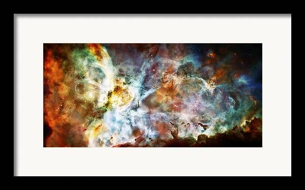 Universe Framed Print featuring the photograph Star Birth In The Carina Nebula by Jennifer Rondinelli Reilly - Fine Art Photography