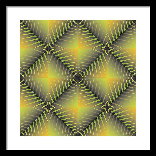 Optical Geometric Visual Digital Art Giclee Print Framed Print featuring the digital art Star Burst's R by James Sharp