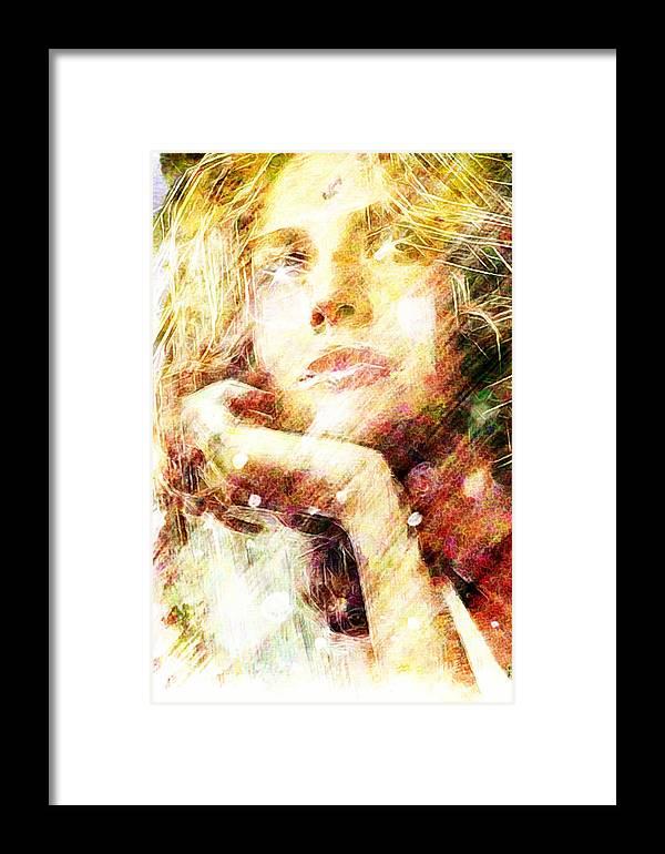 Star Framed Print featuring the digital art Star Eyes by Andrea Barbieri