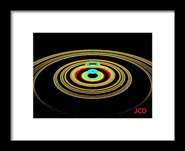 Star Framed Print featuring the digital art Star Far Away by Jean-Claude Delhaise