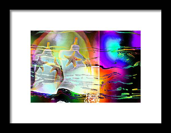 Sea Shells Framed Print featuring the painting Star Fish by Hope Mastroianni