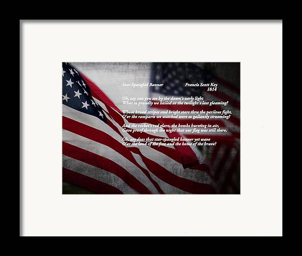 American Framed Print featuring the photograph Star Spangled Banner by Ella Kaye Dickey