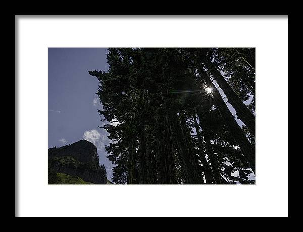 Mt. Baker-snoqualmie Framed Print featuring the photograph Starburst on Chain Lakes Trail by Paul Conrad