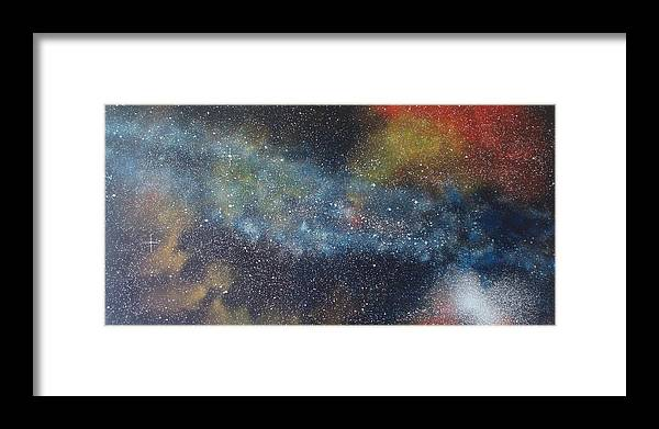 Oil Painting On Canvas Framed Print featuring the painting Stargasm by Sean Connolly