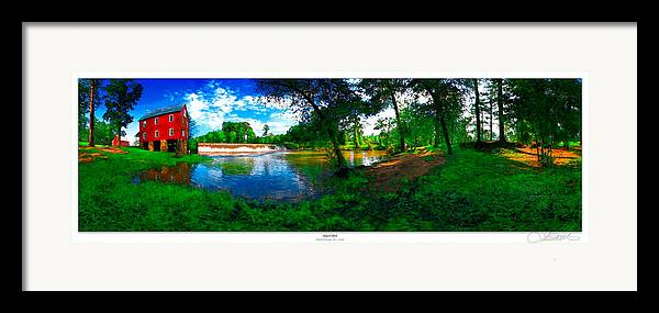 Historic Framed Print featuring the photograph Starrs Mill 360 Panorama by Lar Matre