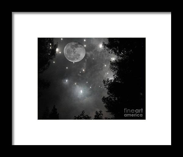 Moon Framed Print featuring the photograph Starry Night by Daniel Taylor