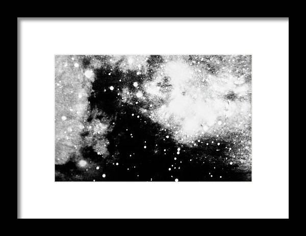 Art Framed Print featuring the photograph Stars And Cloud-like Forms In A Night Sky by Duane Michals