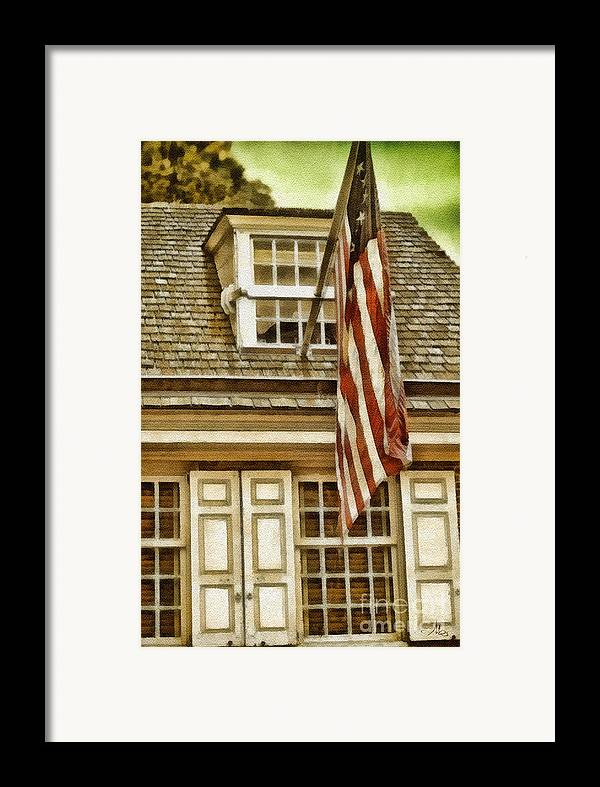 Stars And Tripes Framed Print featuring the painting Stars And Stripes by Mo T