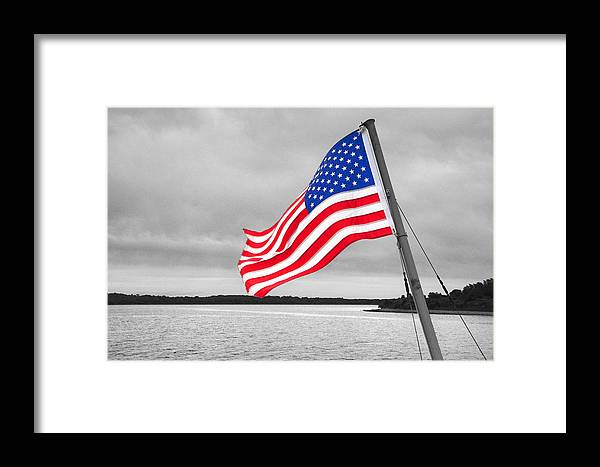 Stars Framed Print featuring the photograph Stars And Stripes by Susan Leonard