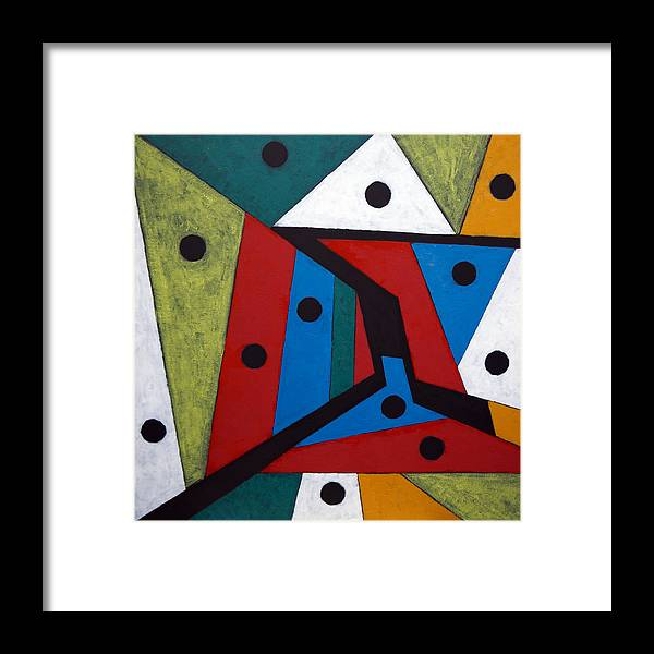Acrylic Framed Print featuring the painting Stars by Sergey Bezhinets