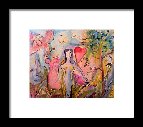 Start Framed Print featuring the painting Start Now Vortex by Judith Desrosiers