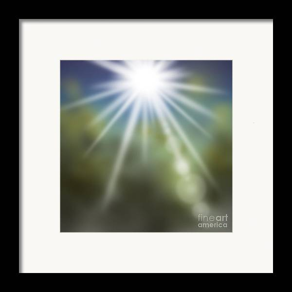 Abstract Framed Print featuring the painting Startosphere by Atiketta Sangasaeng