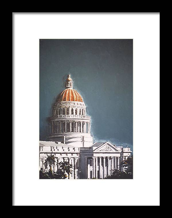 Sacramento Framed Print featuring the painting State Capitol by Paul Guyer