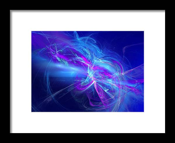 Abstract Framed Print featuring the digital art State Of A Dream by Jeff Iverson