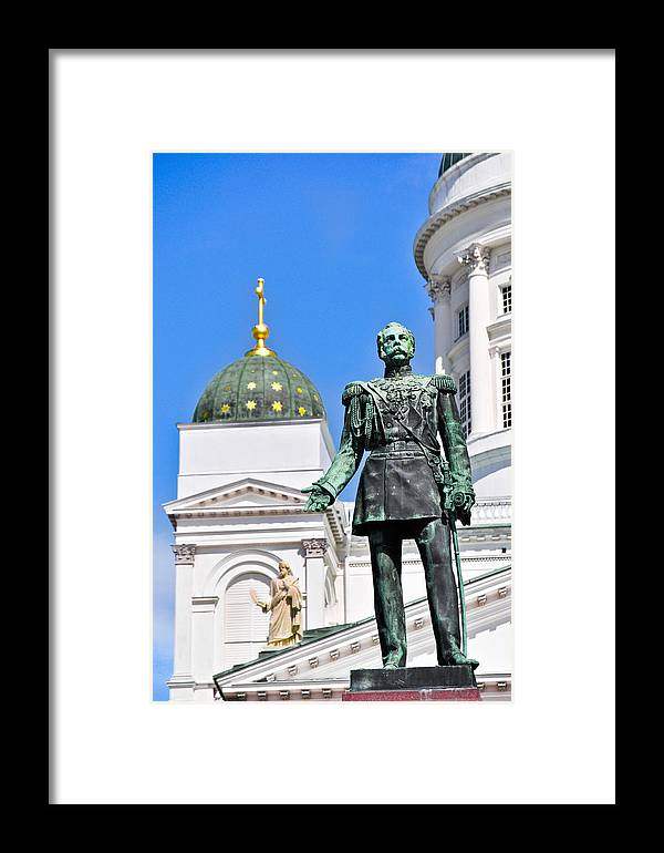 Finland Framed Print featuring the photograph Statue Of Alexander II by YJ Kostal