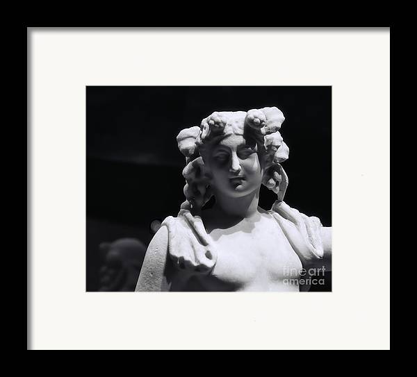 Pompeii Framed Print featuring the photograph Statue Of Dionysus by Catherine Fenner