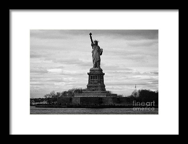 Usa Framed Print featuring the photograph Statue Of Liberty Liberty Island New York City Usa by Joe Fox