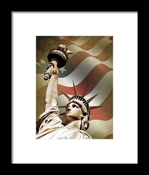 Statue Of Liberty Framed Print featuring the photograph Statue Of Liberty by Mark Rogan