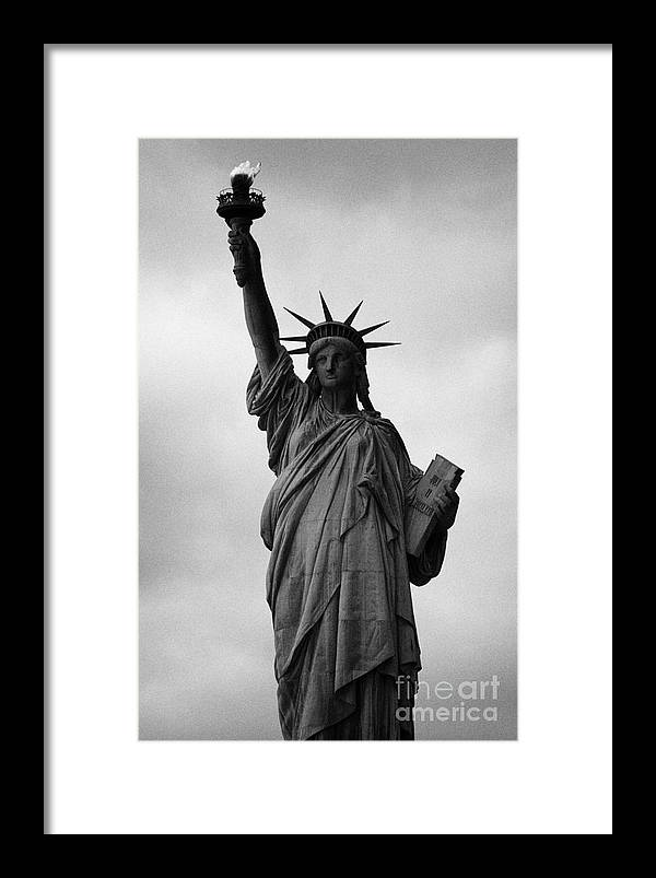 Usa Framed Print featuring the photograph Statue Of Liberty National Monument Liberty Island New York City Nyc by Joe Fox